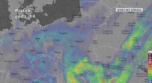 Prognozowane opady w najbliższych dniach (Ventusky)